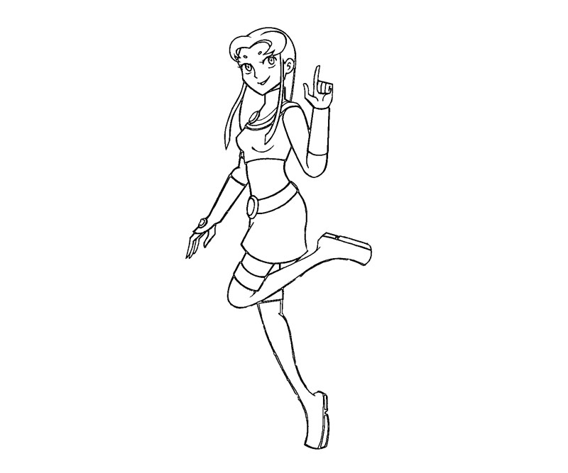 9 Starfire Coloring Page