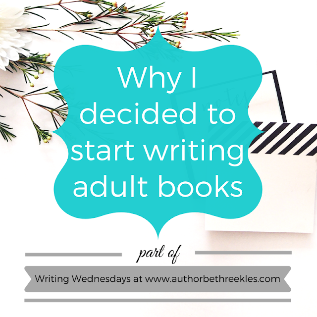 I recently announced my next book - and debut adult novel. In this post, I talk a little about why I decided to write it!