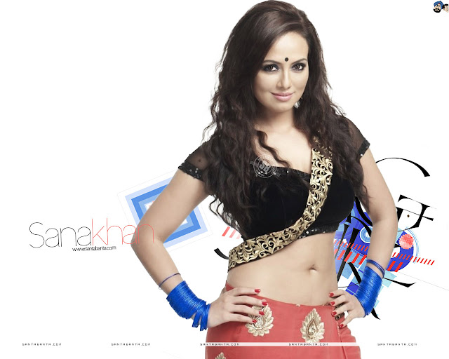 Sana Khan HD Wallpaper