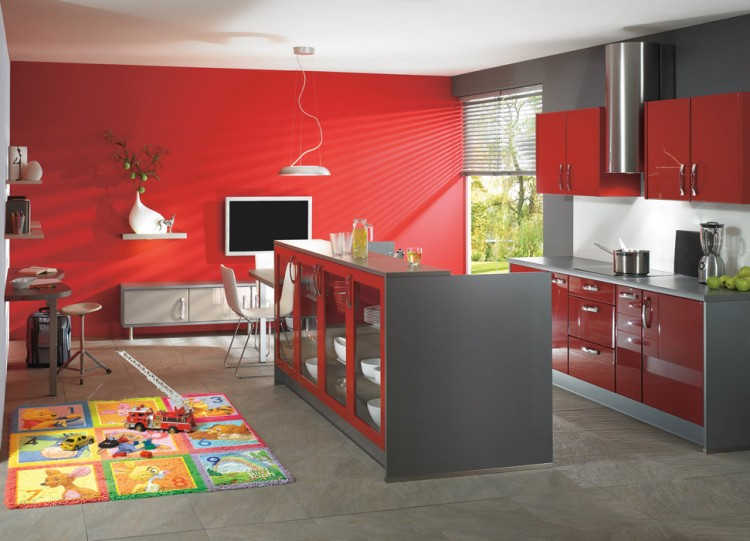 Designs kitchens red color Designs kitchens red color  kitchen ideas