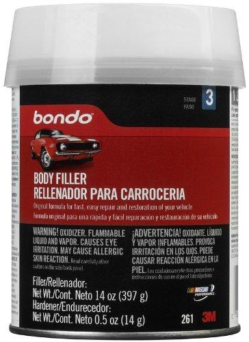 use Bondo to fill cabinet handle holes