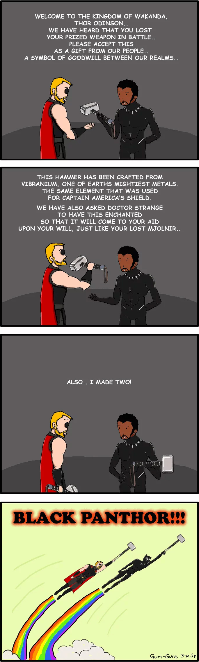 When Thor Meets Black Panther
