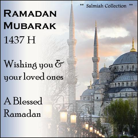 Ramadan Mubarak 1437 H