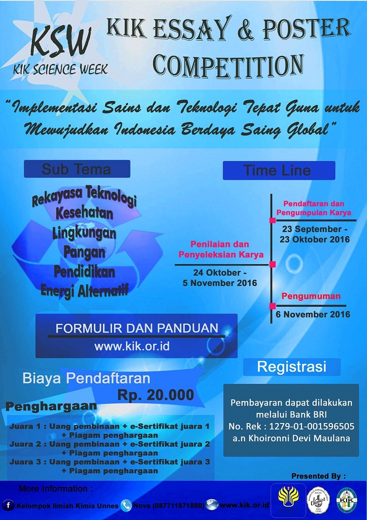 scientific essay competition