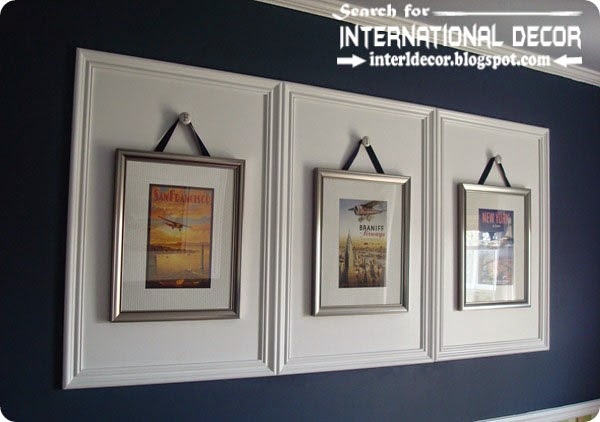 Decorative wall molding designs ideas and panels, framed wall moldings
