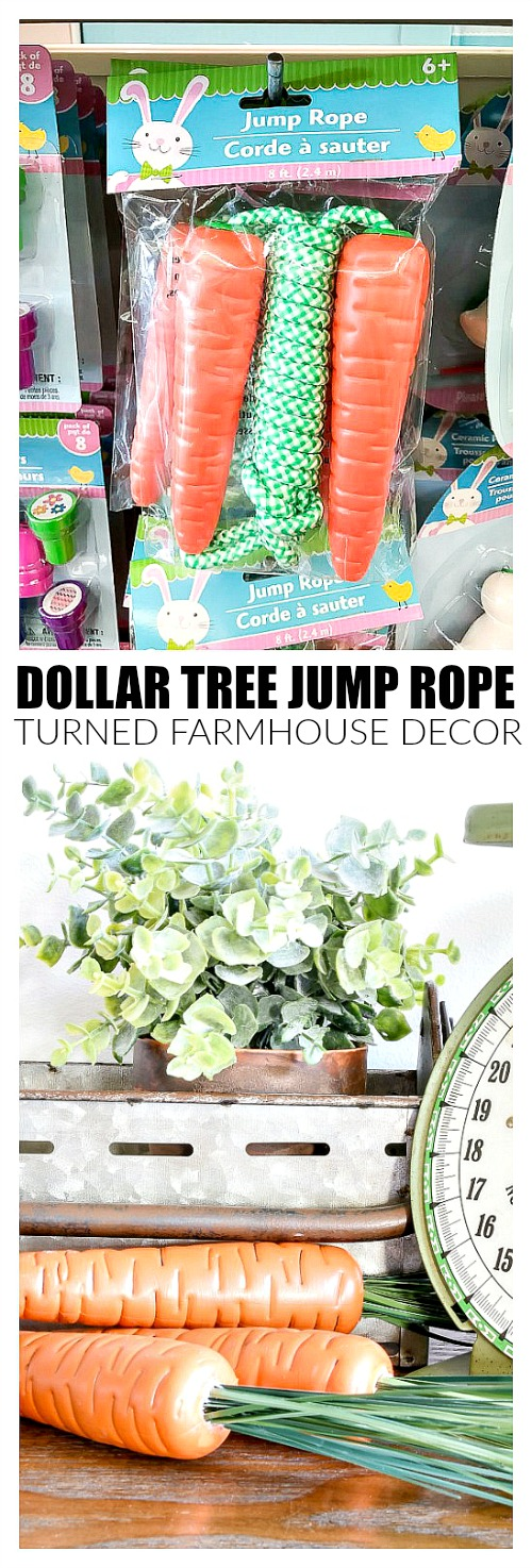 Plastic jump ropes turn perfect spring decor