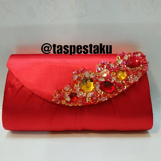 Tas Pesta Clutch Bag Merah Red