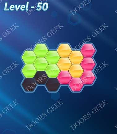 Block! Hexa Puzzle [Rainbow A] Level 50 Solution, Cheats, Walkthrough for android, iphone, ipad, ipod