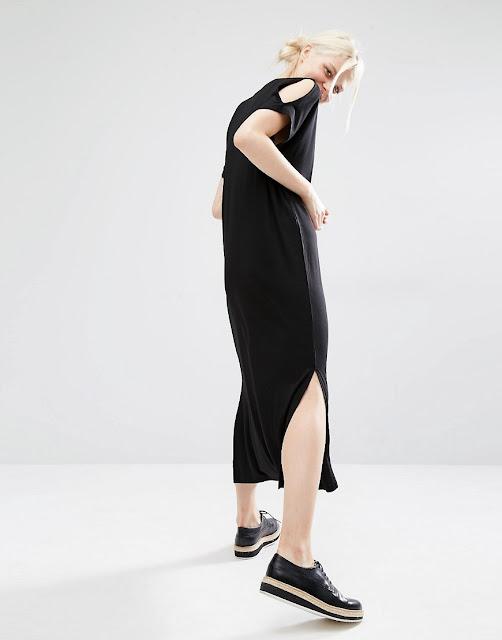 black hole shoulder dress, monki shoulder dress,