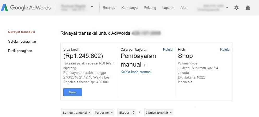 biaya beriklan di google adwords