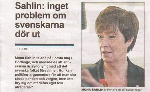 Mona Sahlin i Borlänge