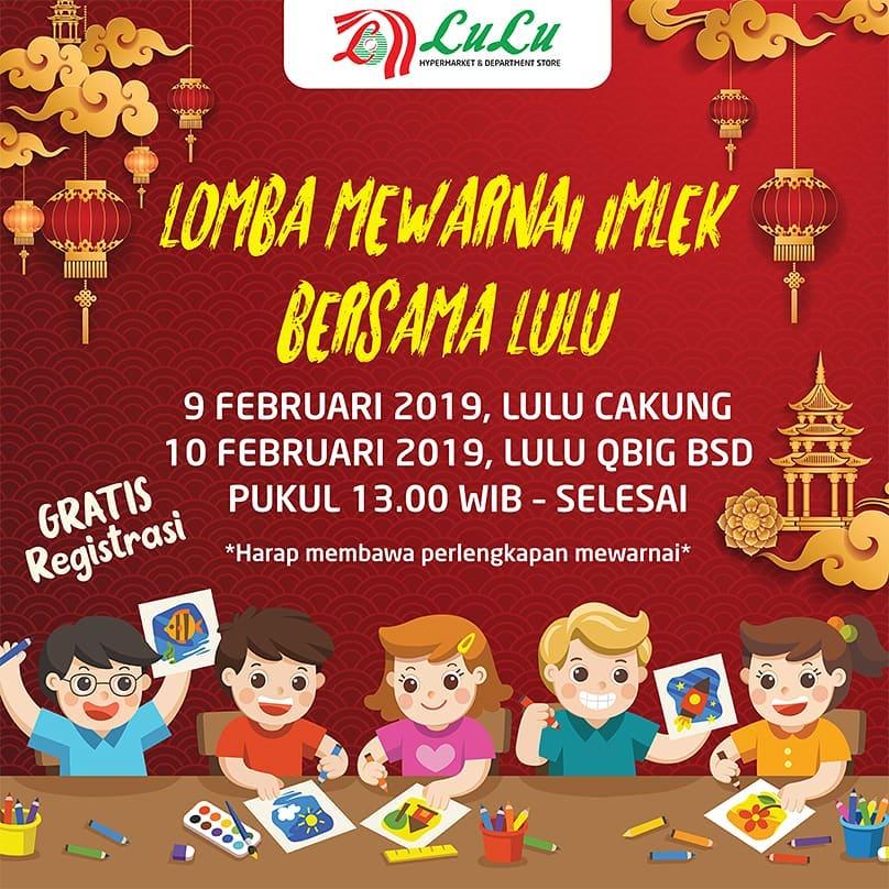 #LuLuStoreID - #Promo Event Lomba Mewarnai IMLEK 2019 (09 - 10 Feb 2019)