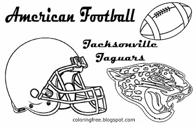 Jacksonville Jaguars clipart American Conference gridiron coloring pages for boys USA sports match