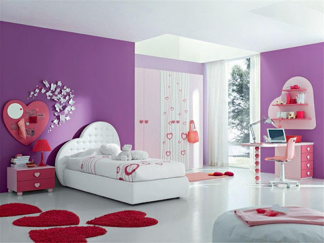 chambre fille mauve. Black Bedroom Furniture Sets. Home Design Ideas