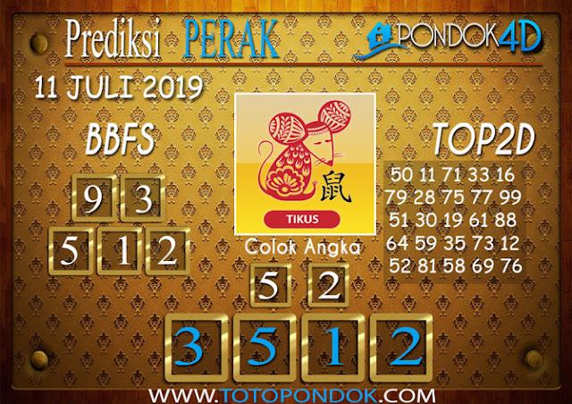 Prediksi Togel PERAK PONDOK4D 11 JULI 2019