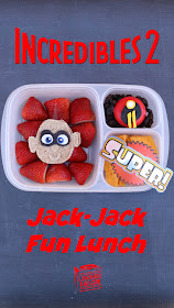 How to make a Disney Pixar Incredibles 2 Jack-Jack fun lunch for your kids!