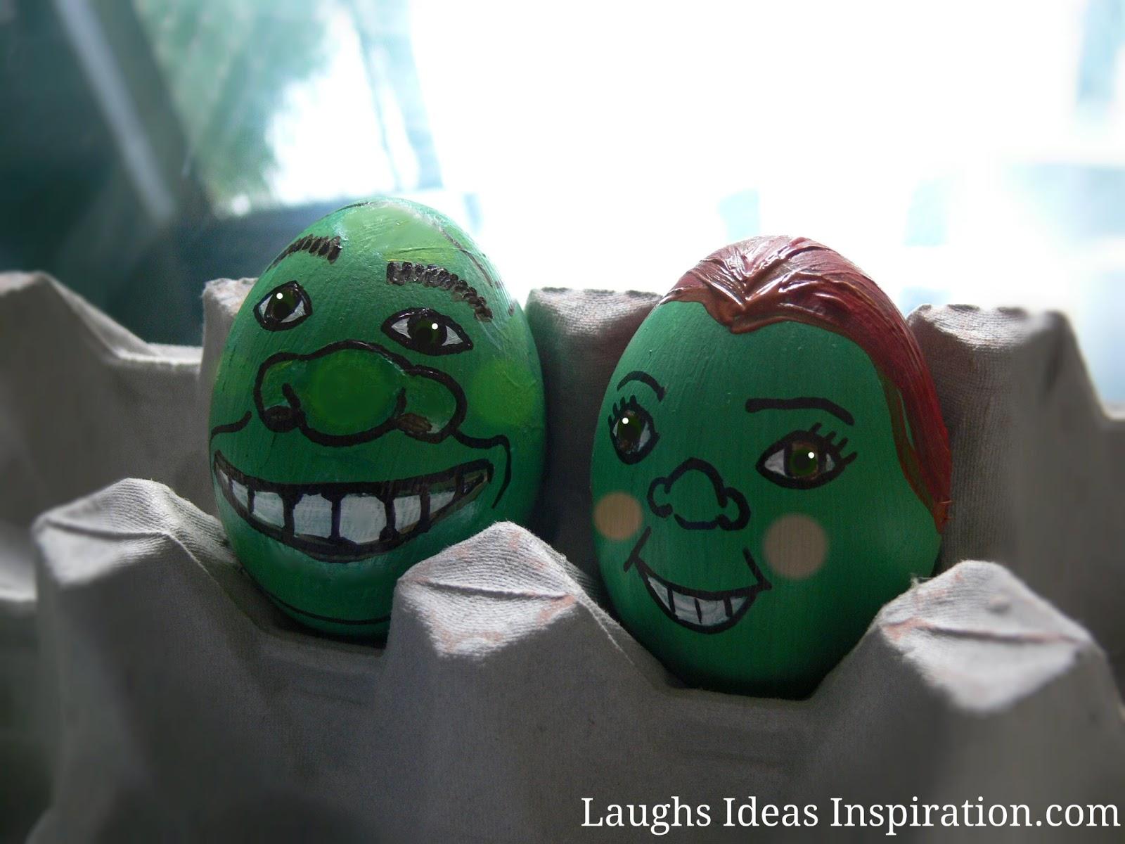 Huevos de Pascua Shrek y Fiona
