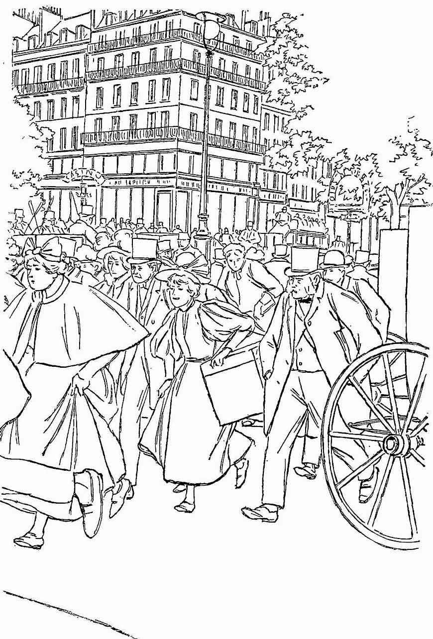 Pierre Vidal cartoon about rush hour and rat race