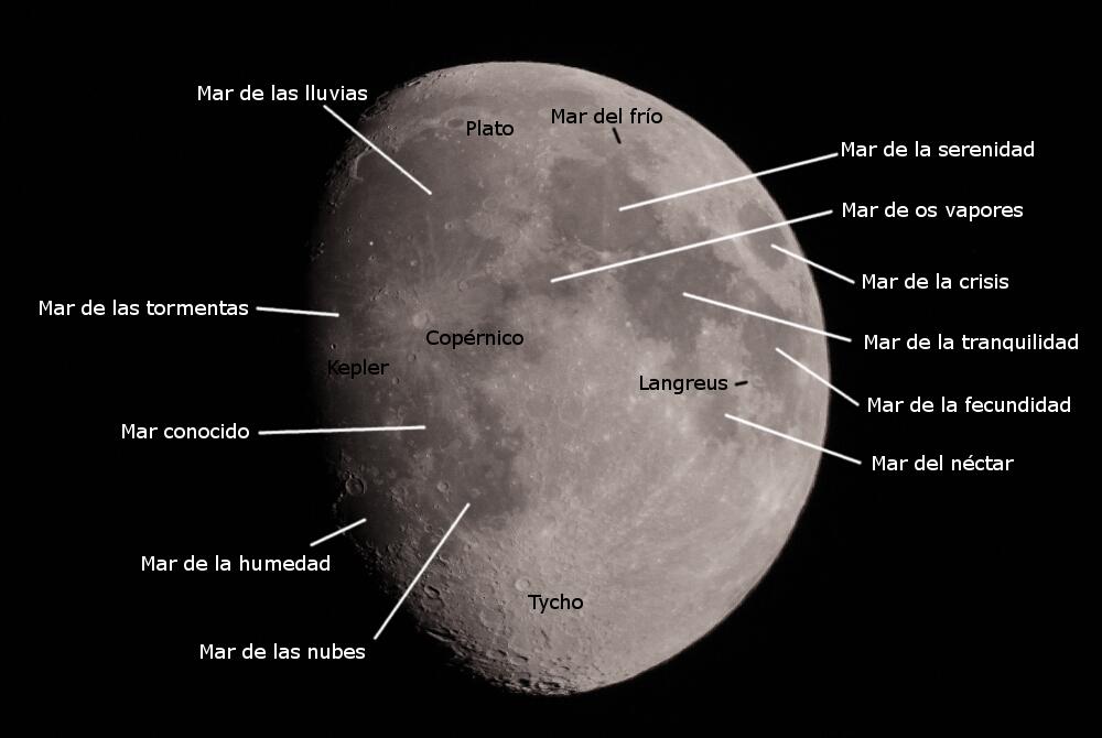 Mapa luna - El cielo de Rasal