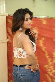 Deekshita Parvathi in a short crop top and Denim Jeans Spicy Pics Beautiful Actress Deekshita Parvathi January 2017 CelebxNext (46).JPG