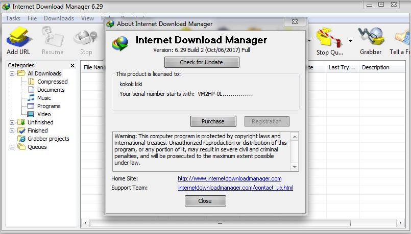 internet download manager 6.12 product key free download