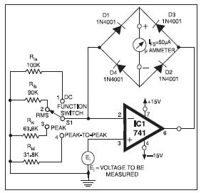 UNIVERSAL HIGH RESISTANCE VOLTMETER BASIC ELECTRONICS