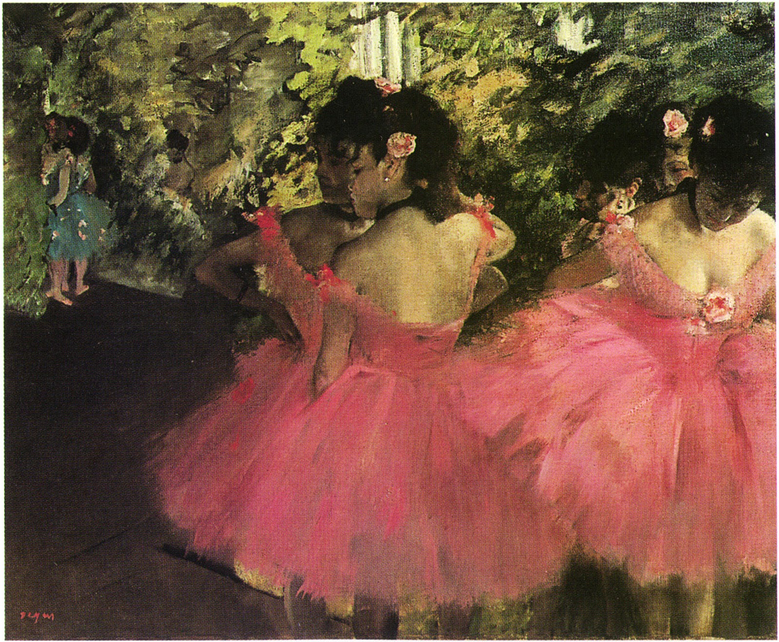 Dancers in Pink, Degas, 1880-1885, Hill-Stead Museum ...