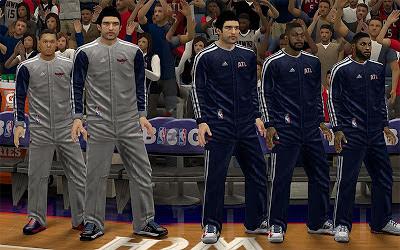 NBA 2K13 Atlanta Hawks Real Warmup Uniforms Mod