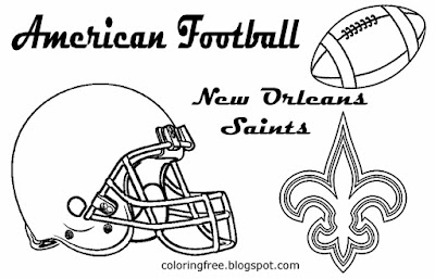 New Orleans Saints printable South American football coloring pictures for teenagers US team games