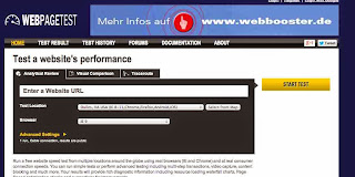 webpagetest site speed test slow internet