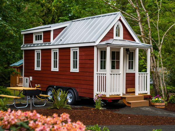 Scarlett the tiny house of Mt Hood Village Resort in Oregon