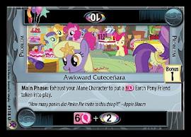 My Little Pony Awkward Cuteceñara Marks in Time CCG Card