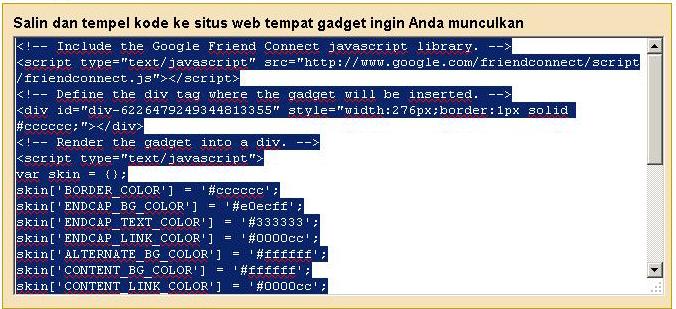 Cara Memasang Gadget Pengikut dengan Script di Blogger