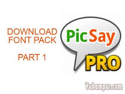 font pack picsay pro