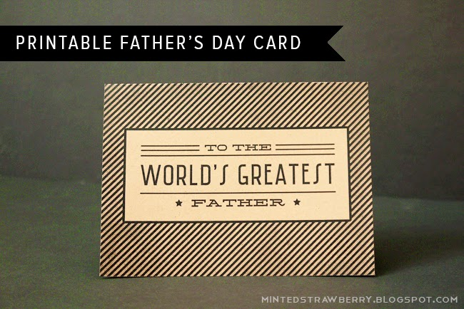 world's greatest father vintage printable card