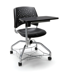Classroom Chair with A Tablet Arm