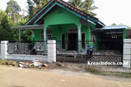 Pemasangan Pintu Gerbang dan Pagar Minimalis di Gang Karyawan Desa Sidodadi Sidomulyo Lampung Selatan