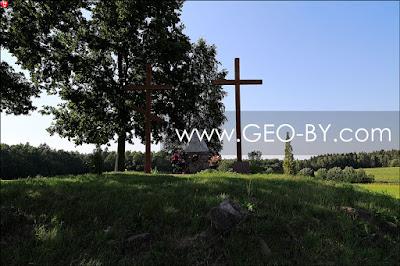 Два креста: католический и православный на кургане Войниловичей