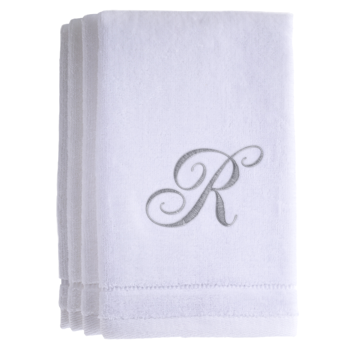Personalized Sweat Towel: Deon Reviews 4U: Monogrammed Towels Set Of 4 Initial R (White