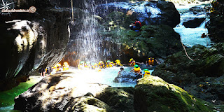 wisata body rafting green canyon