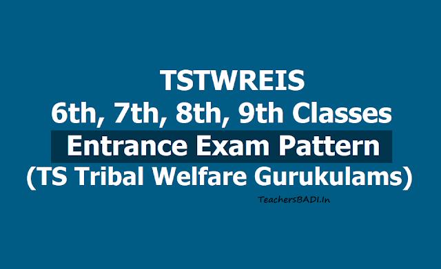 TSTWREIS Entrance test 'Exam pattern' for TS Gurukulam 5th,6th,7th,8th,9th Class admissions 2019