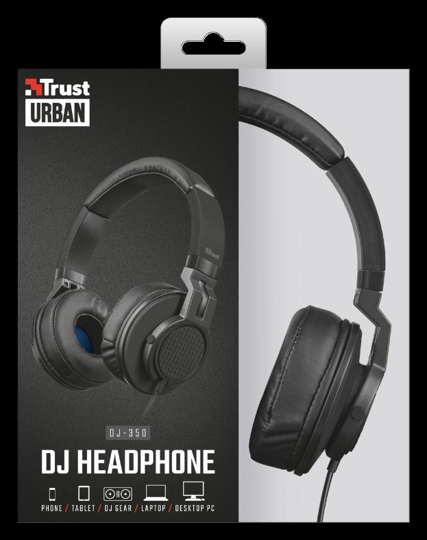 Trust Cuffie on-ear da DJ di alta qualità per PC e laptop con microfono  21707 DJ-350 4a9772c30500