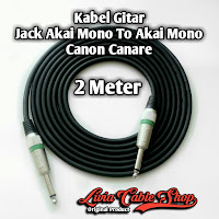 Kabel Gitar Jack Akai Mono To Akai Mono Canon Canare 2 Meter