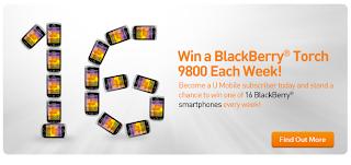 umobile - CONTEST - Win a BlackBerry® Torch 9800