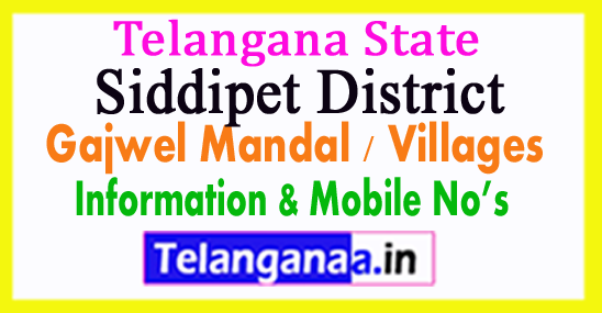 Siddipet District Gajwel Mandal Village in Telangana State
