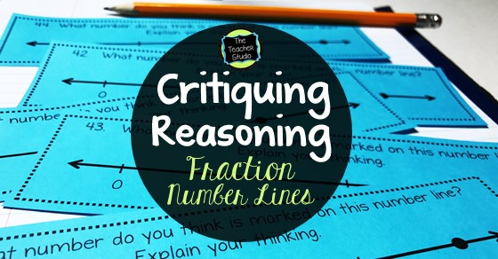 fraction number lines, critiquing reasoning, teaching fractions, fraction activities, fraction lessons