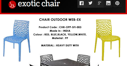 CHAIR OUTDOOR WEB-EX