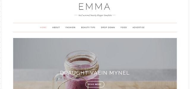 Emma Modern Personal Responsive Blogger Templates