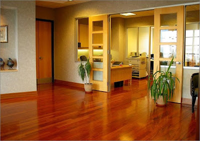 Sàn gỗ giáng hương mang lại không gian đẹp