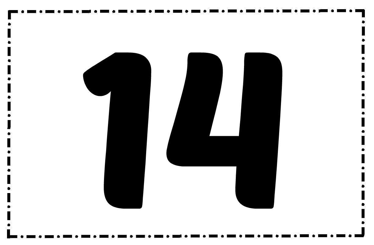 Numero 13 Para Colorear: Increíble Imagenes Del Numero 13 Para Colorear